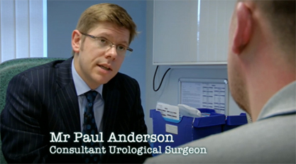 Consultant urologist Paul Anderson performs a urethroplasty to correct a bulbar urethral stricture